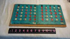 2 long  Vintage PLA-MOR Slide Slider Shutter Bingo Cards Made In The U.S.A.