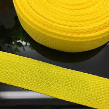 New 5 Yards Length 1 Inch (25mm) Width Yellow Nylon Webbing Strapping P04