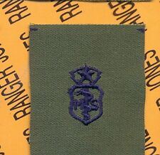 USAF Master Medical Service MS Qualification OD Green & Blue badge patch