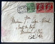 BELGIQUE LETTRE  1912 TIMBRES   OBLITERES  Le742