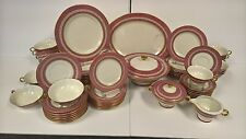 Theodore Haviland New York Mosaic Red Dinner Service for 8 59 Pieces Limoges