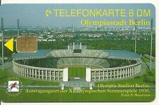 RARE / CARTE TELEPHONIQUE - STADE OLYMPIQUE BERLIN OLYMPIC 1936 HITLER PHONECARD