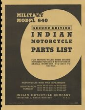 Indian Scout  ~ 640 ~ Parts List ~ Motorcycle Manual ~  Reprnt