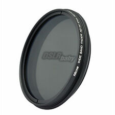 Nicna 55mm Fader ND Lens Filter Wide Angle Adjustable ND2 to ND400 ND4 ND8 ND100