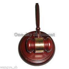 Handcrafted Wood Gavel & Sound Block Lawyer Judge Gift