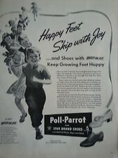 1943 Poll Parrot Shoes Happy Feet Skip With Joy Children Original Ad