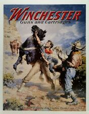 WINCHESTER GUNS AND CARTRIDGES - SPOOKED HORSE - COLLECTIBLE TIN METAL SIGN