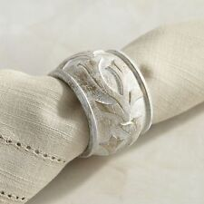NEW Pier 1 Imports Napkin Ring Carved Set of 6