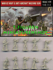 1:72 FIGUREN M112 WWII US NAVY & ANTI-AIRCRAFT MACHINE-GUN - STRELETS