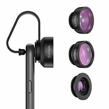 Smartphone Photography Lens 3 Modes Fisheye Macro Wide Angle Lens Universal Fit