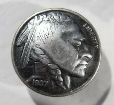 Indianer Nickel Indian Cent 1937 Western Retro Biker Hosenknopf Knopf Schrauben