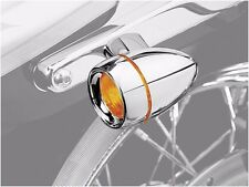 Kuryakyn Deep Dish Bezels with Lenses for Bullet Turn Signals  Amber