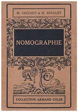 FRECHET M. et ROULLET H. - NOMOGRAPHIE - 1946