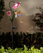 Solar Flower Garden Stakes Yard Lighting Butterfly