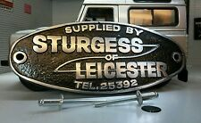 Land Range Rover Defender Heritage Aluminium Tub Dealer Badge Sturgess Leicester