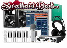 M AUDIO Home Pro Recording Bundle Studio Package Midi 25 Key AV42 Monitors!