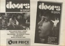 14/10/89Pgn12 Advert: 'the Doors - In Europe' On Video In Our Price Now 7x11