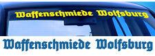 Waffenschmiede Wolfsburg Scheiben Aufkleber Blendstreifen 80cm - Farbauswahl!