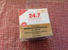 NEW 24.7 MINERALS LIGHT ANTI AGING FOUNDATION SPF 16 POWDER