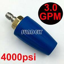 """Blue 3.0 GPM Pressure Washer Rotating Turbo Nozzle 4000 PSI 1/4"""" Quick Connect"""
