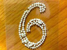 """2 x """"6"""" adesivo Perle Numeri Diamante finto Gemme Cristalli Strass"""