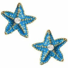 NWT Betsey Johnson  Blue Starfish Stud Earrings