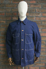 VTG 60s WRANGLER SANFORIZED INDIGO DENIM WORK JACKET COAT CHORE BARN SIZE 40/42