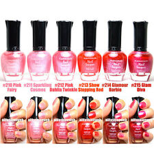 LOT OF 6 KLEANCOLOR NAIL POLISH GLITTER RED PINK LACQUER MANICURE SHIMMER PINKY