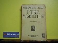 ART 7.100 LIBRO I TRE MOSCHETTIERI DI ALESSANDRO DUMAS 1933