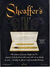 1951 Sheaffer's TM Triumph  PRINT AD  detailed pen & pencil set