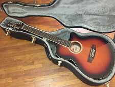 Stagg 12 String Cutaway Concert Acoustic Electric Guitar with Case