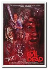 "Evil Dead 24""x16"" Silk Horror Zombie Classic Old Movie Poster Wall Art Print New"