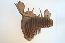 Medium Wood Moose Head Wall Trophy *** FREE U.S. Shipping Included***