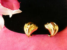 1990's VINTAGE Mint AUTH.CHRISTIAN DIOR GERMANY SIGN GOLD CLIP EARRINGS