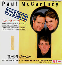 PAUL McCARTNEY - SPIES LIKE US / MY CARNIVAL - VERY RARE! JAPAN PROMO 45' PS