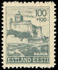 Scott # NB6 - 1941 -  ' Narva Castle ' - Close View