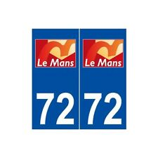 72 Le Mans logo autocollant plaque stickers ville droits