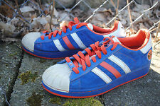 1990's adidas NBA Superstar Sneakers, NY Knicks Edition, Men's Size 8.5