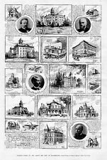 BLOOMINGTON ILLINOIS HISTORY SOLDIERS ORPHANS HOME WILLARD LIBRARY COURT HOUSE