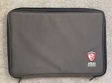 """AUTHENTIC MSi G GS GT GAMING SERIES LAPTOP LOGO PADDED ZIP SLEEVE CASE 17"""""""