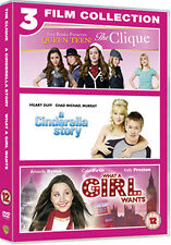 CINDERELLA STORY / THE CLIQUE / WHAT A GIRL WANTS - DVD - REGION 2 UK