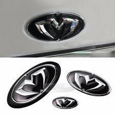 Front Grill Trunk Steering Wheel Emblem Set for HYUNDAI 2011 - 2016 Elantra MD