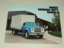 Prospectus Camion DODGE MEDIUM DUTY 1974 brochure Prospekt LKW Truck USA