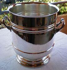 Seau à champagne en métal argenté Christofle modèle SULLY