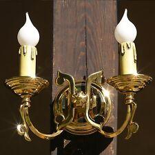 Wandlampe (2 Stück vorhanden) MESSING Hochglanz für Flur od rustikale Wohnräume