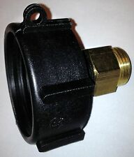 "HD 275 330 Gallon IBC Tote Tank DRAIN ADAPTER 2"" COARSE Thread x 3/4 Garden Hose"