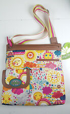 NWT LILY BLOOM ECO SPRING SHOWER CHRISTY LARGE CROSSBODY BAG