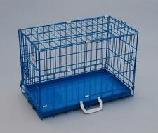 "20"" Blue BestPet Folding Suitcase Dog Crate Cat Cage with Metal Pan"