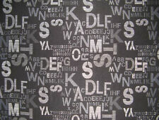 58 inch Wide Upholstery/Drapery Jacquard Fabric Script Black By The Yard