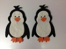 4 MULBERRY PAPER PENGUIN CHRISTMAS CARD MAKING SCRAPBOOKING CRAFT EMBELLISHMENTS
